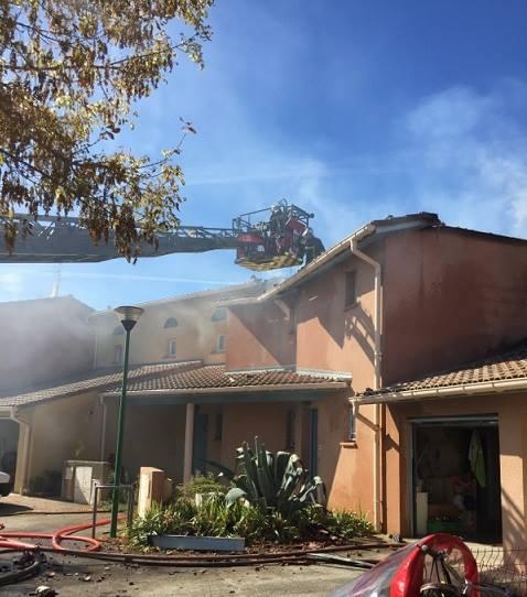 Cugnaux Une maison en partie détruite dans un incendie au sud de Toulouse