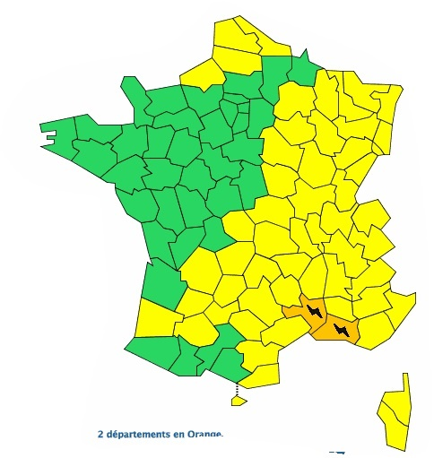 Orages. Tarn, Gers, Tarn et Garonne et Aude placés en alerte météo