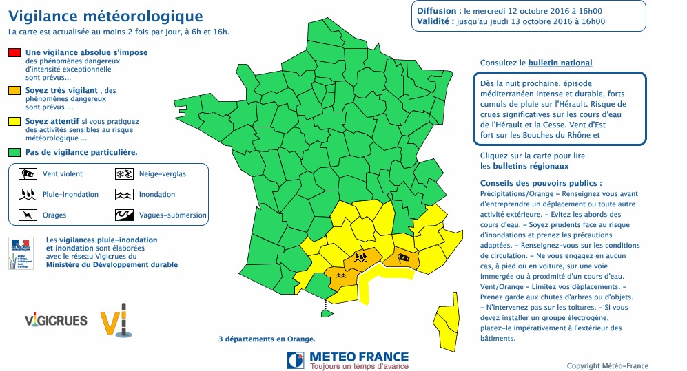 Vents violents sur Toulouse, tempête annoncée sur Montpellier et l'Hérault
