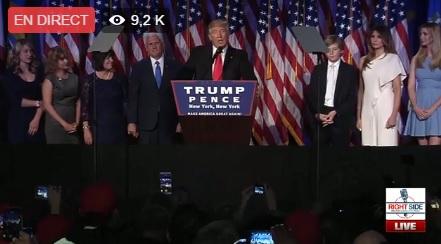 Donald Trump 45e président des Etats Unis se veut rassurant