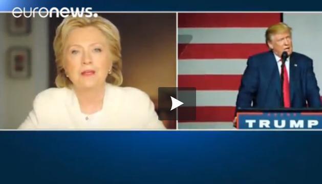 Elections américaines : les derniers spots publicitaires de Trump et Clinton