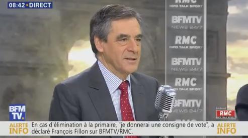 François Fillon en tête du premier tour de la primaire de la droite