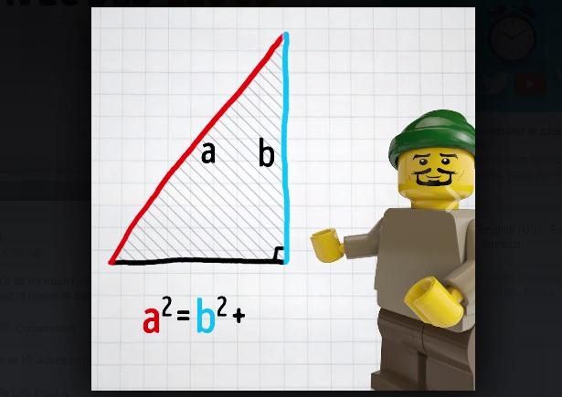 Le théorème de Pythagore expliqué avec des Legos fait le buzz