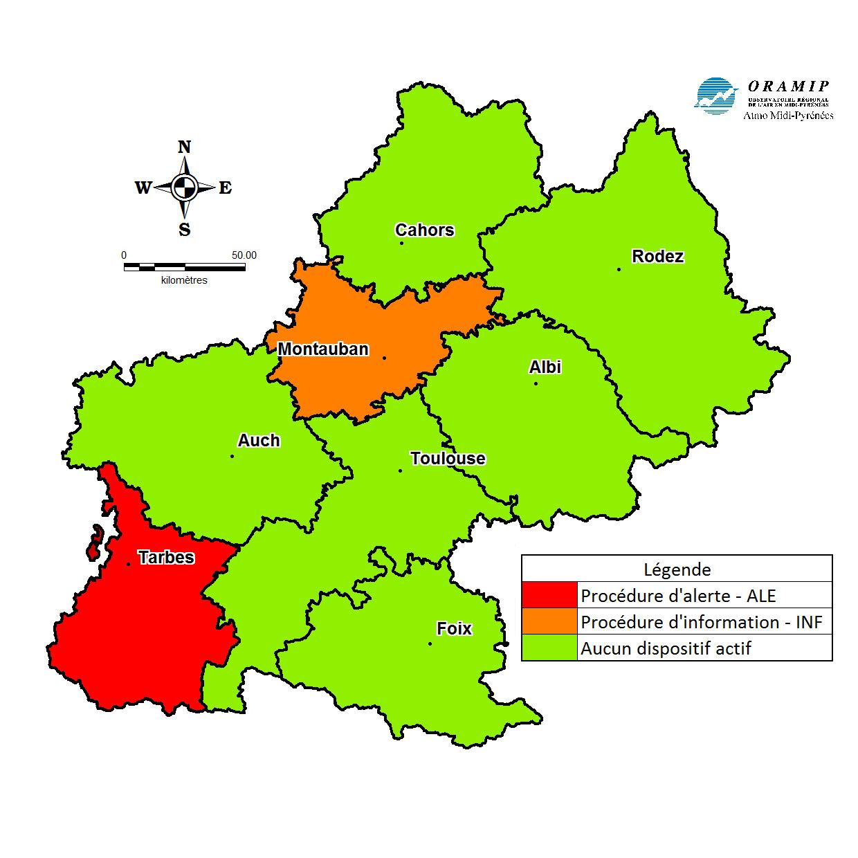 Alerte pollution à Tarbes et Montauban