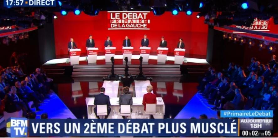 Débat Primaires Gauche Peillon Valls Montebourg Hamon