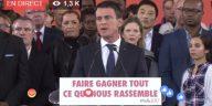 Gifle, farine, salles vides... Début de campagne douloureux pour Manuel Valls