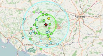 Tremblement de terre à l'ouest de Rennes