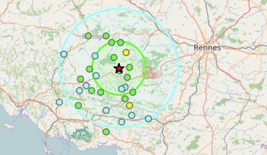 tremblement terre Rennes