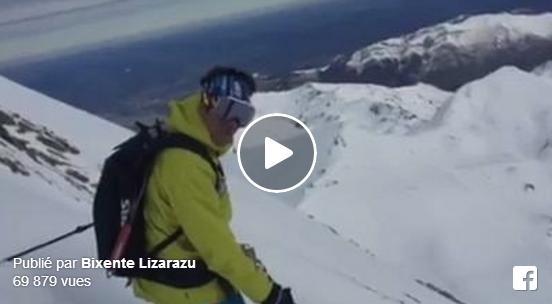Buzz de Bixente Lizarazu en ski sur la face nord du Pic du Midi