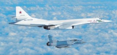 La chasse Française intercepte 2 bombardiers Russe au large de la France