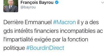 Quand Bayrou critiquait Macron