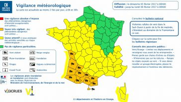 Tempête Marcel. Toulouse et la Haute Garonne en alerte météo vigilance orange