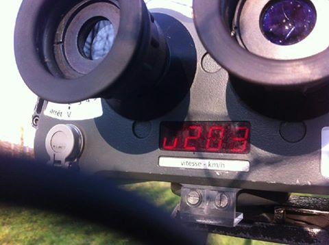 Un chauffard flashé à 203 kmH au sud de Toulouse