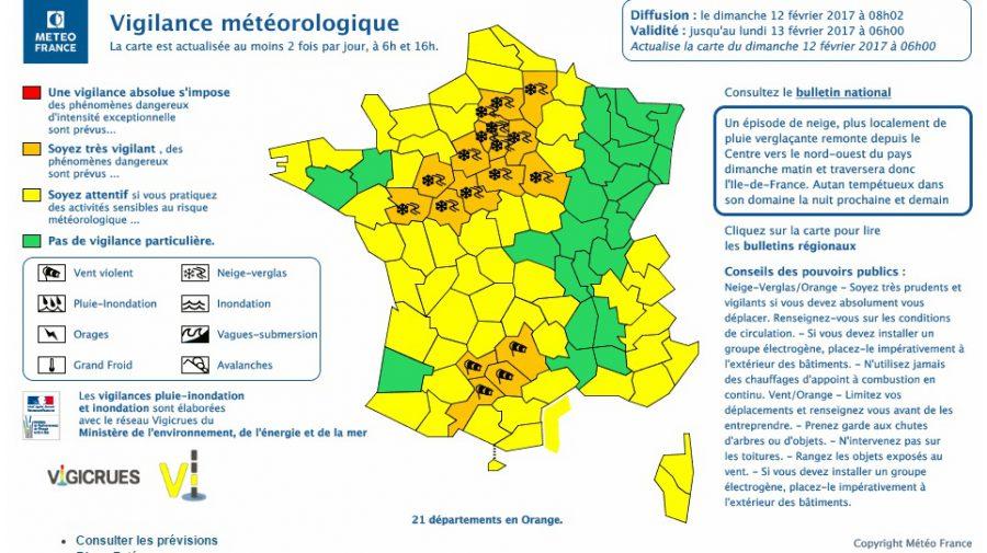 Vents violents sur Toulouse. La Haute Garonne en <a  href=