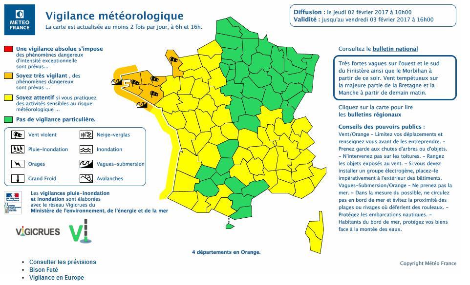 une succession de tempêtes sur la France ce week end