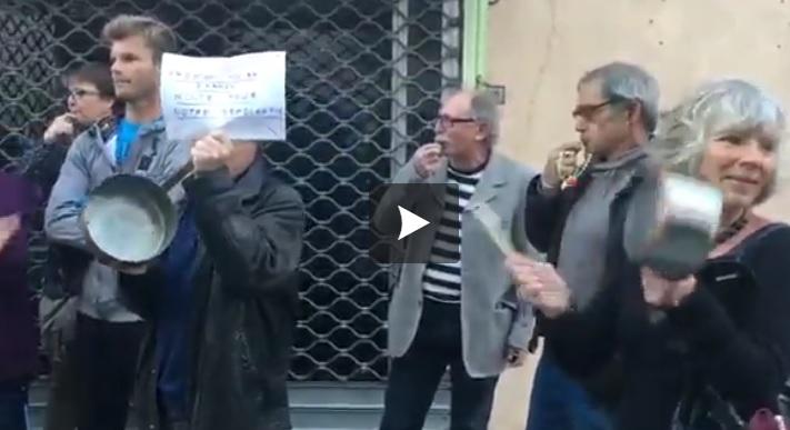 Des casseroles pour accueillir François Fillon à Pertuis