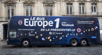 Le Bus Europe 1 de la présidentielle avec Facebook sera à Toulouse mercredi