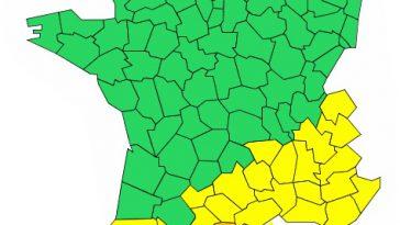 Orages Inondations. Aude et Pyrénées Orientales en alerte météo vigilance orange