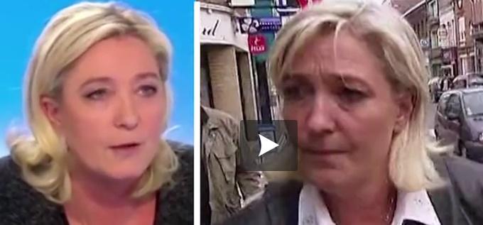 Quand Marine Le Pen ne dit pas toujours la même chose