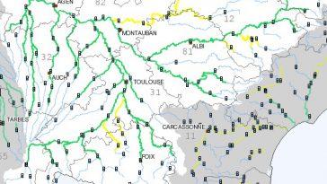 Rivières en crues en Occitanie : alerte en Haute Garonne, Tarn et Aveyron