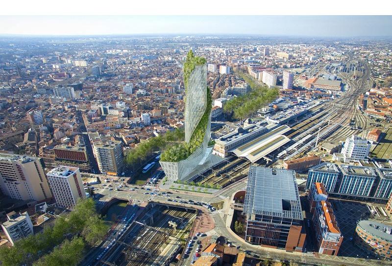 Toulouse. voici le futur gratte ciel de la gare Matabiau