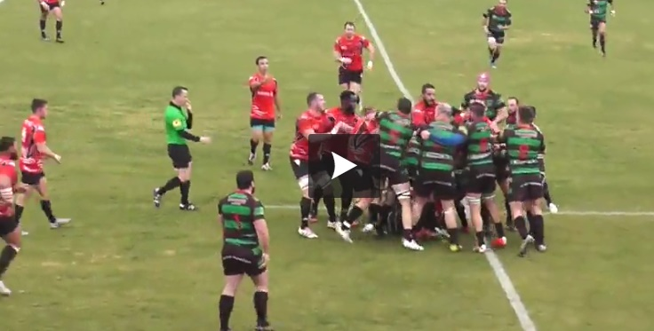 Vidéo - Nice le match de rugby dégénère en bagarre générale