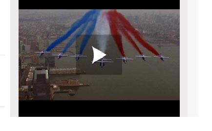 Vidéo - La patrouille de France a volé au dessus de la Statue de la Liberté