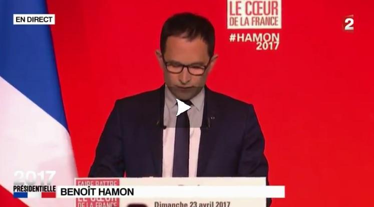 Benoît Hamon reconnaît sa défaite et appelle à voter Emmanuel Macron