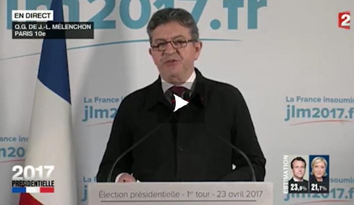Mélenchon ne donne pas de consigne de vote pour le second tour de la présidentielle