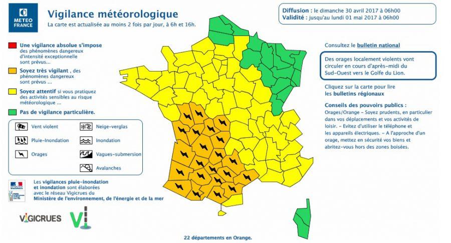Orages. Toulouse et la Haute Garonne en alerte météo vigilance orange