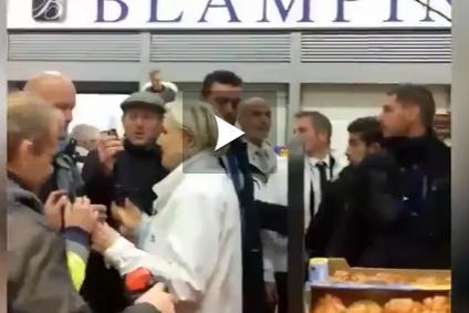 Vidéo - Marine Le Pen huée lors de sa visite au marché de Rungis
