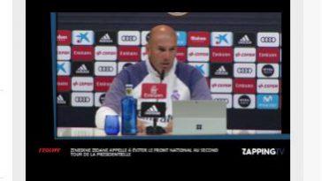 Zidane appelle à contrer Marine Le Pen et le Front National