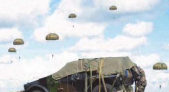 Les hommes du 1er Régiment du Train Parachutiste de Toulouse à l'honneur