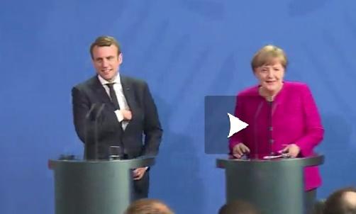 Macron et Merkel prêts à réformer l'Europe ensemble