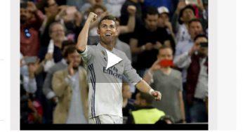 Real Madrid Atletico Madrid. triplé de Ronaldo