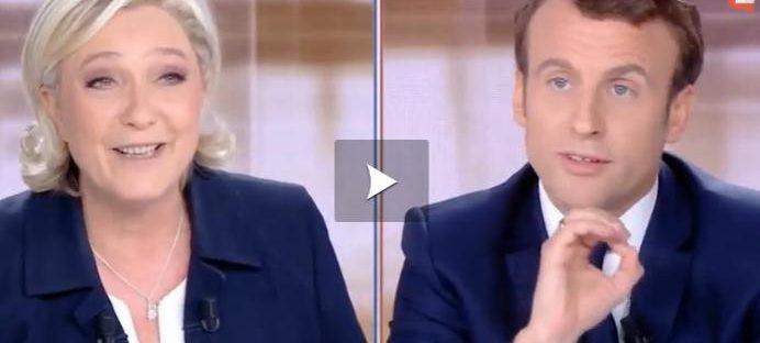 Vidéo - Quand Le Pen improvise une étrange danse devant Macron