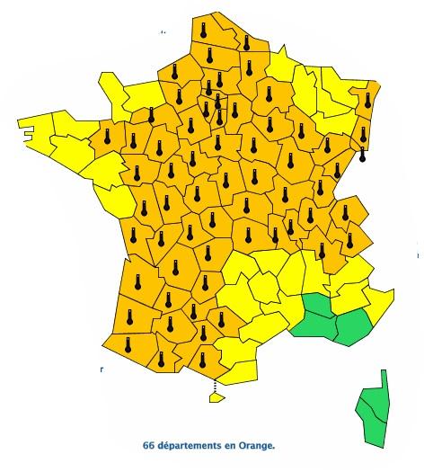 Alerte canicule vigilance orange prolongée à Toulouse et en Occitanie