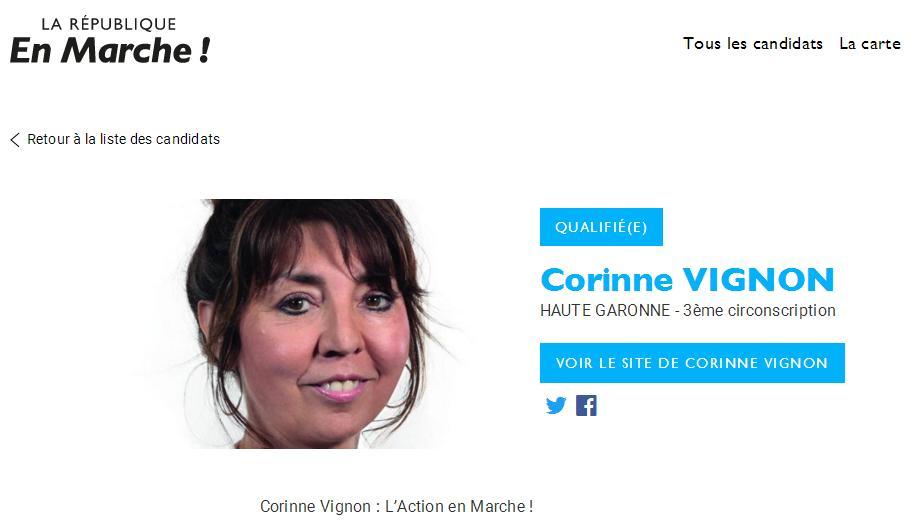 Enquête préliminaire contre Corinne Vignon candidate En Marche en Haute Garonne