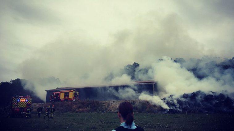 Incendie à Montaigut à l'ouest de Toulouse