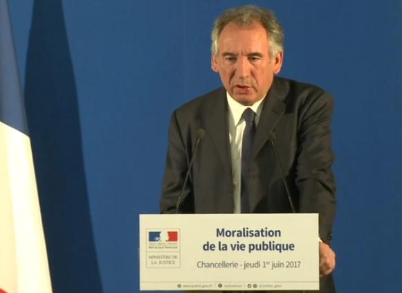 Moralisation de la vie politique. les détails du projet Bayrou