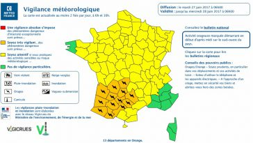 Orages Violents. Toulouse et la Haute Garonne en alerte vigilance orange ce mardi