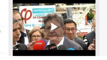 Vidéo - sur le Canal du Midi, Mélenchon parle du Code du Travail