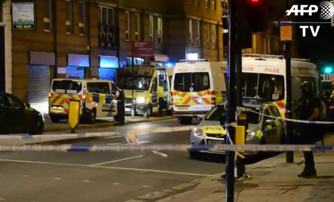 attentat de Londres, la vidéo de l'intervention de la police
