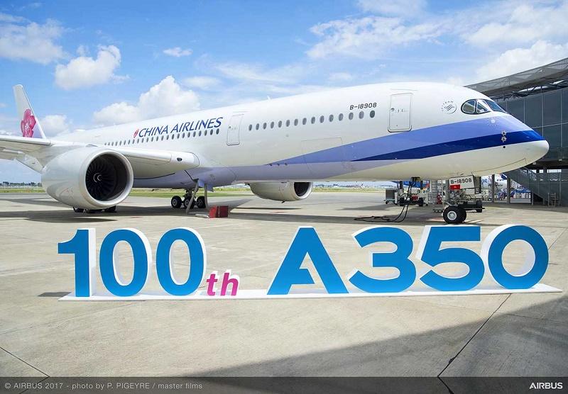 Airbus a livré son 100e A350 à China Airlines
