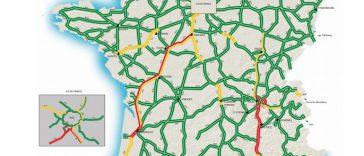 Circulation. Week classé rouge orange sur les routes de France