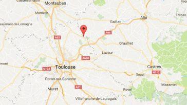 Toulouse Bessières. une voiture percutée par un train