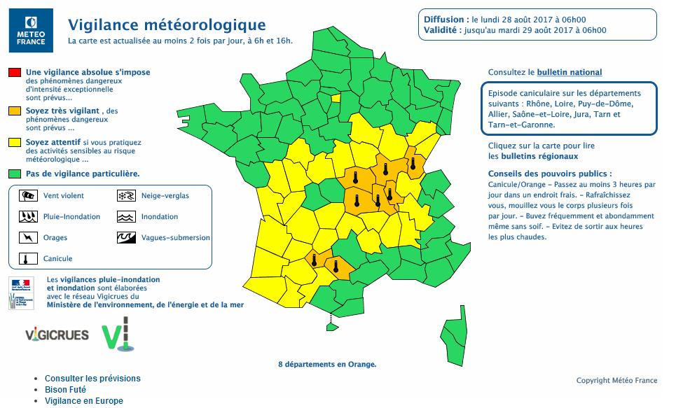 Alerte Canicule vigilance orange pour Albi, Castres ou Montauban