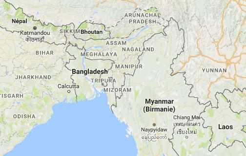 Birmanie-Myanmar. des milliers de personnes fuient vers le Bangladesh