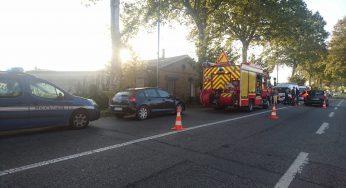 Accident de la route à Saint Jory, circulation difficile au nord de Toulouse