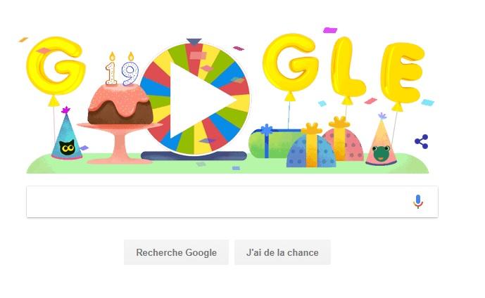 Google fête son 19e anniversaire
